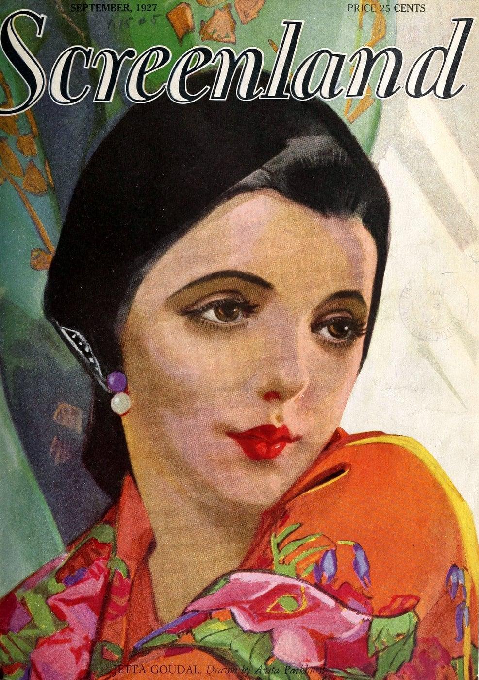 Screenland magazine actress Jetta Goudal 1927