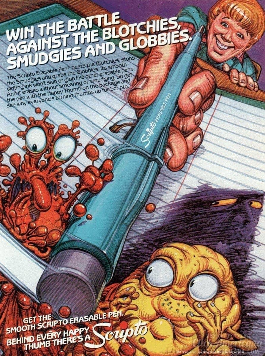 The Scripto Erasable Pen (1984)