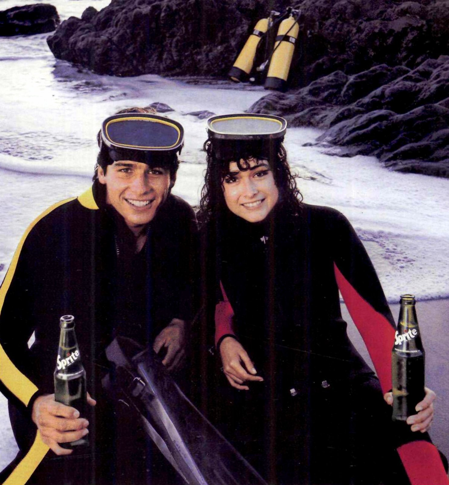Scuba diving with Sprite (1984)