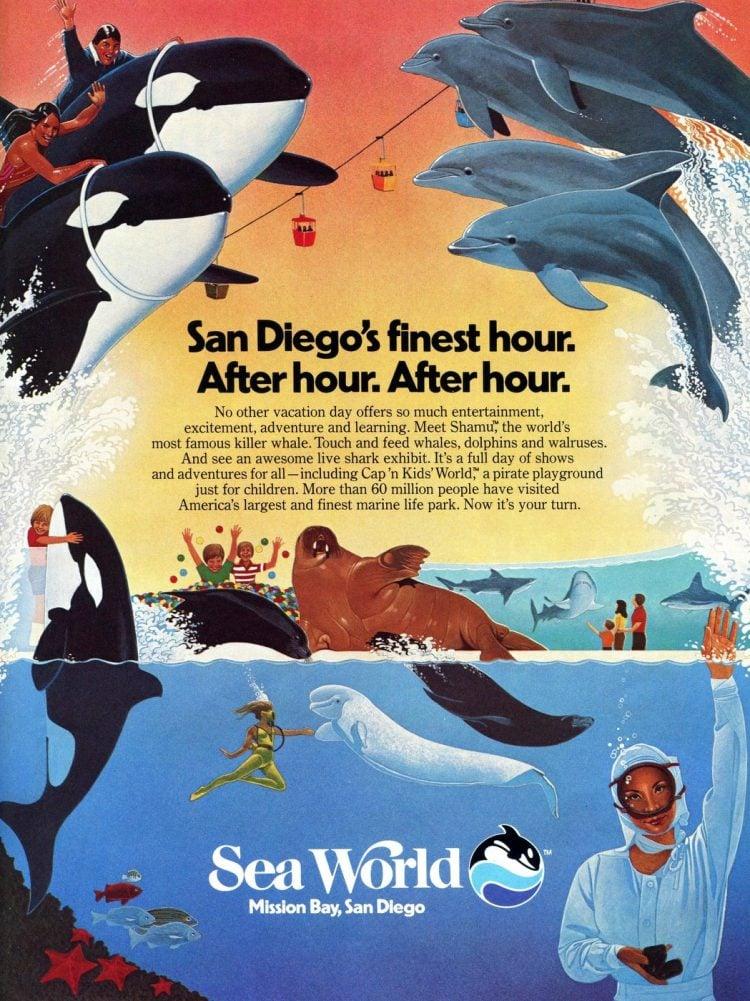 Vintage Sea World San Diego 1983