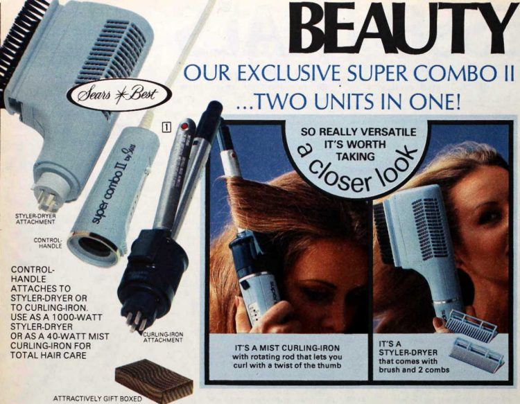 Sears Best hairdryers from the 1970s (1977)