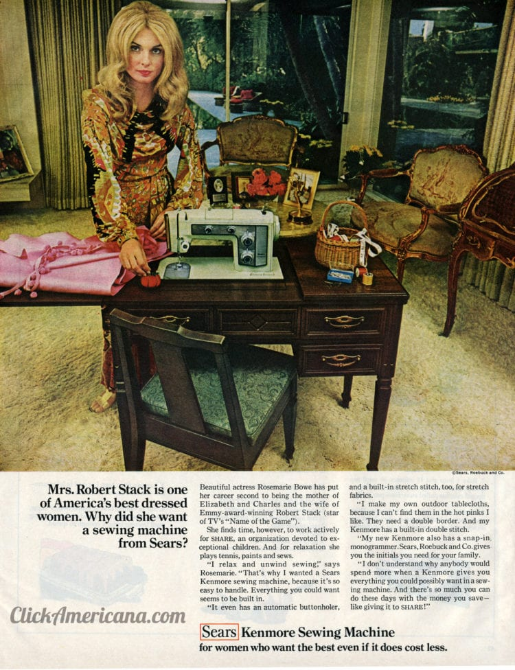 Sears Kenmore sewing machine (1969)