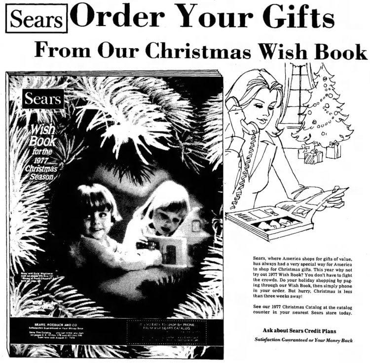 Sears Wish Book orders 1977