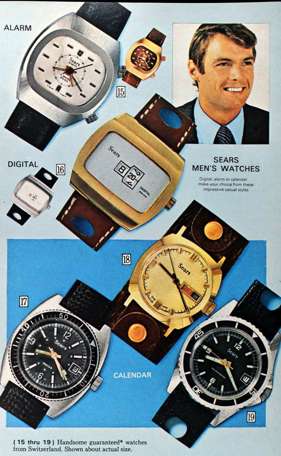 Sears mens' watches (1971)