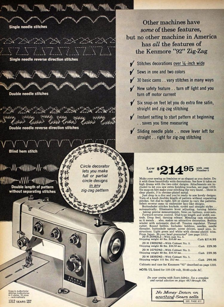 Sears sewing machines - 1966 catalog (1)