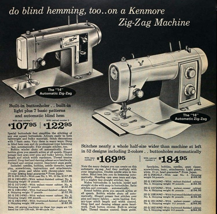 Sears sewing machines - 1966 catalog (2)