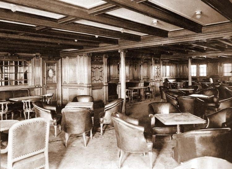 Second class smoking room