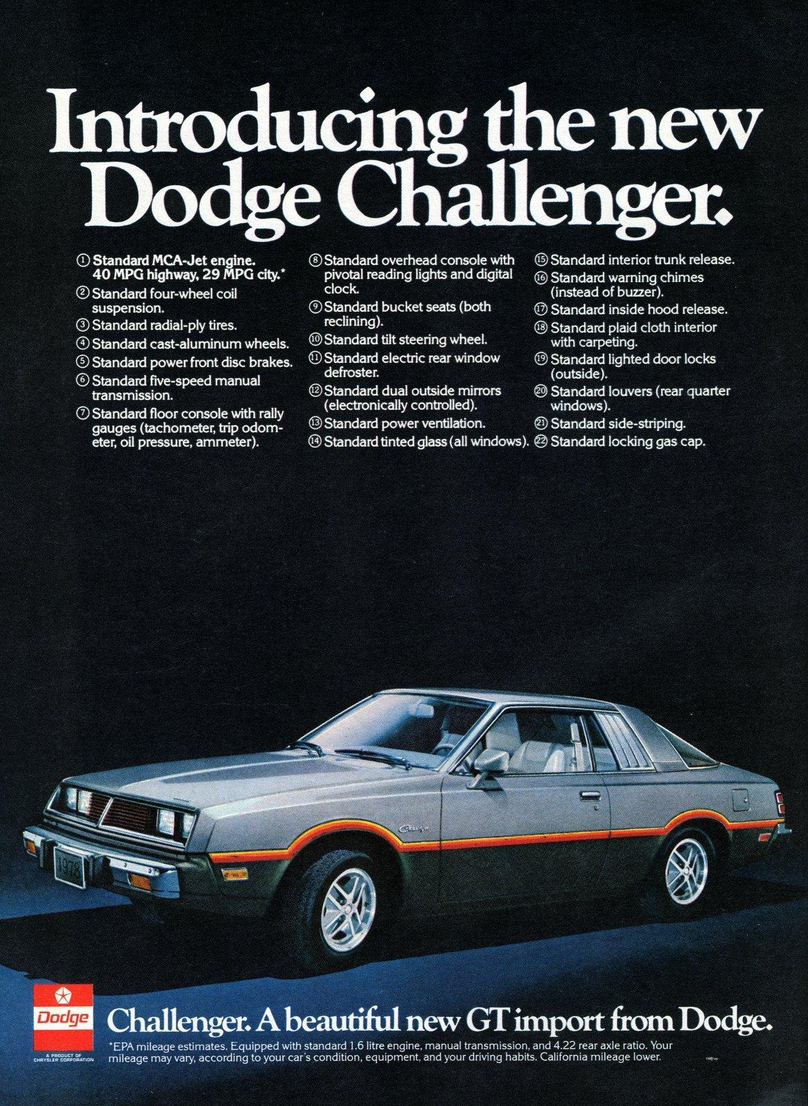 Second generation Dodge Challenger (1978)