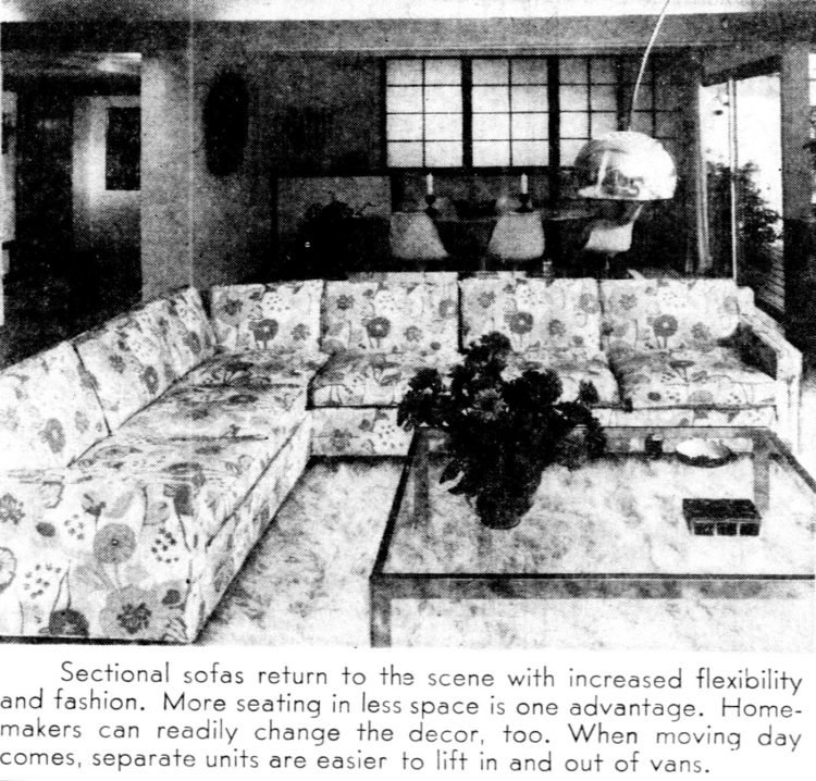 Sectional sofas back and worth considering - 1970