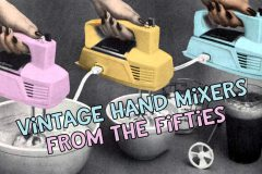 See 1950s vintage portable electric hand mixers,