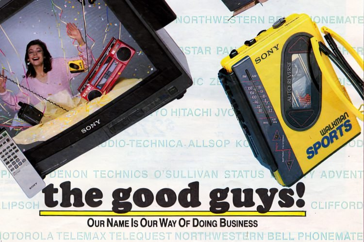 See 1987's hottest TVs, VCRs, stereos, cellular phones from The Good Guys store