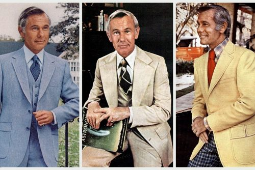 See Johnny Carson's line of polyester suits that were big sellers in the '70s