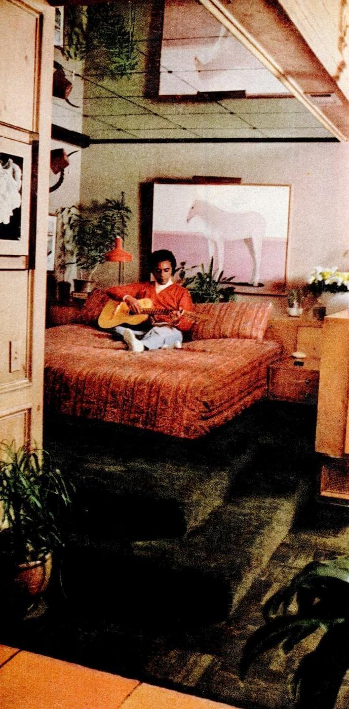 See Johnny Mathis at his Hollywood home back in the 1970s
