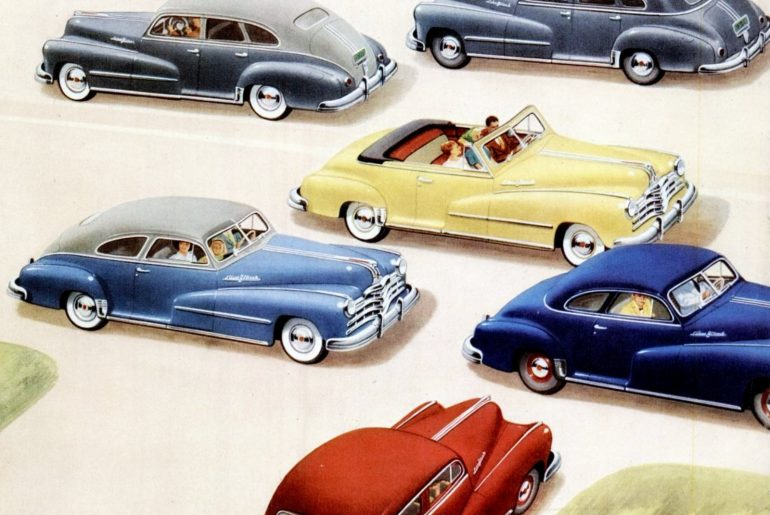 See 1940s Pontiac car models in these vintage ads