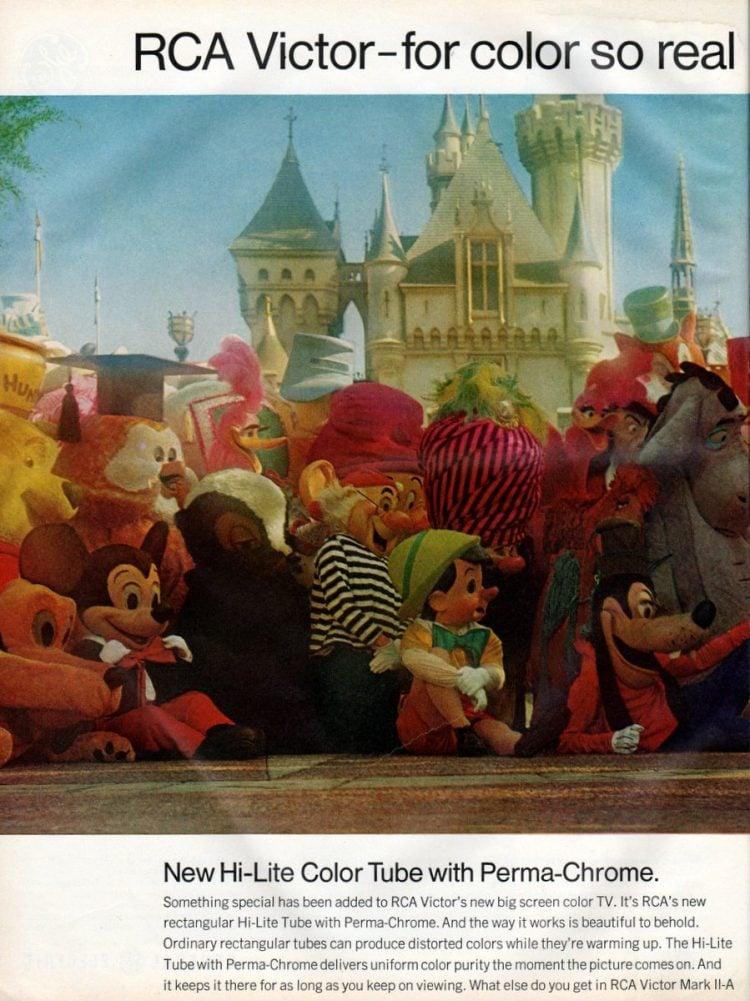 See RCA Victor's new big screen color TV - Walt Disney (1966)