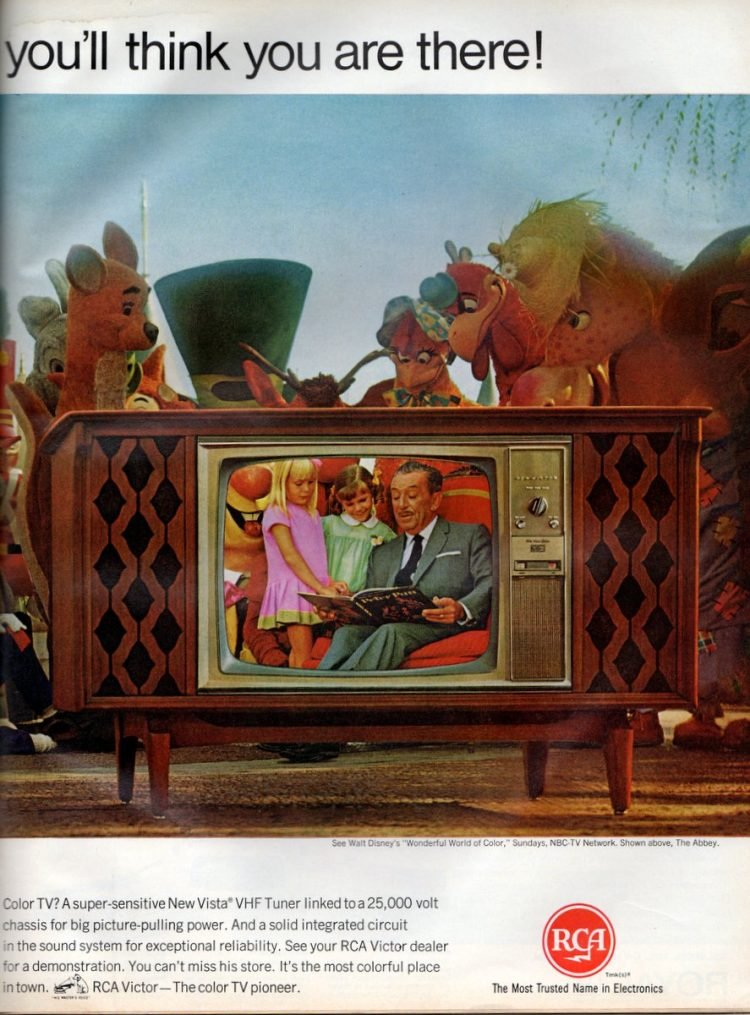 See RCA Victor's new big screen color TV - Walt Disney (1967)