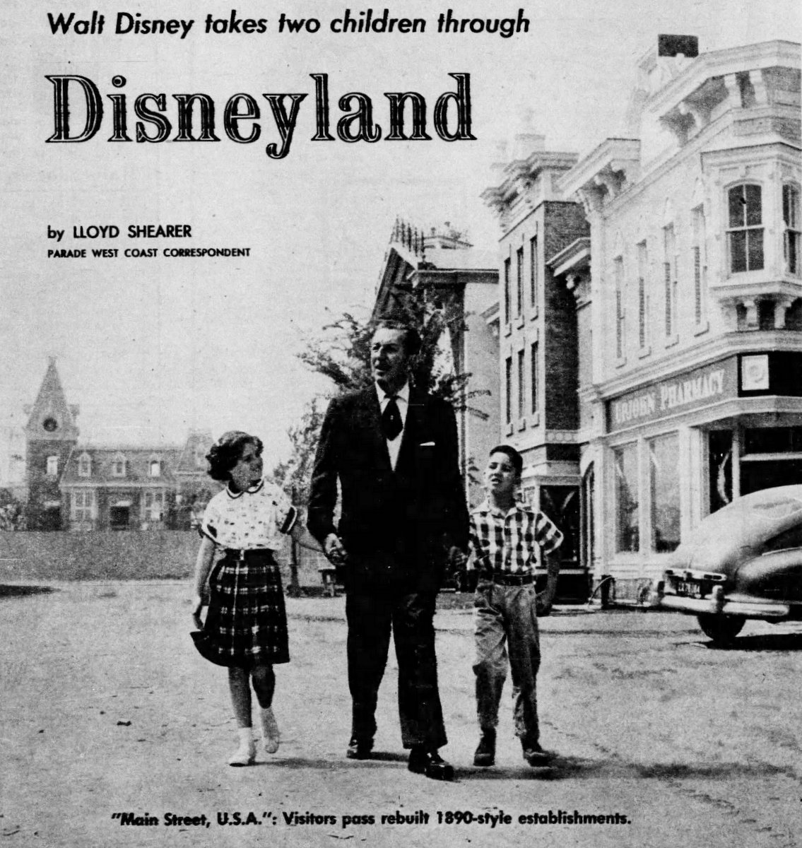 See Walt Disney gave a personal tour of Vintage Disneyland before it opened in 1955