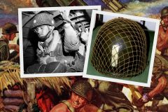 See a WWII combat helmet up close