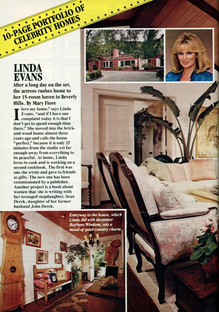 See inside Dynasty actress Linda Evans' Beverly Hills home 1982 (1)