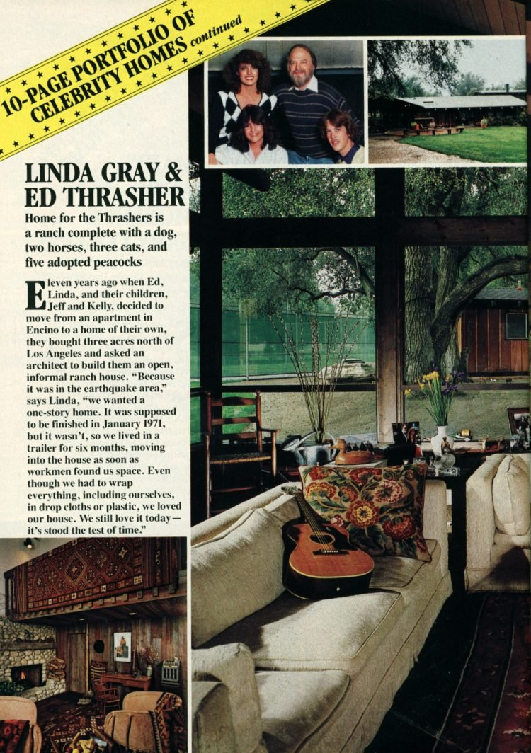 See inside the home of Dallas actress Linda Gray (1984)