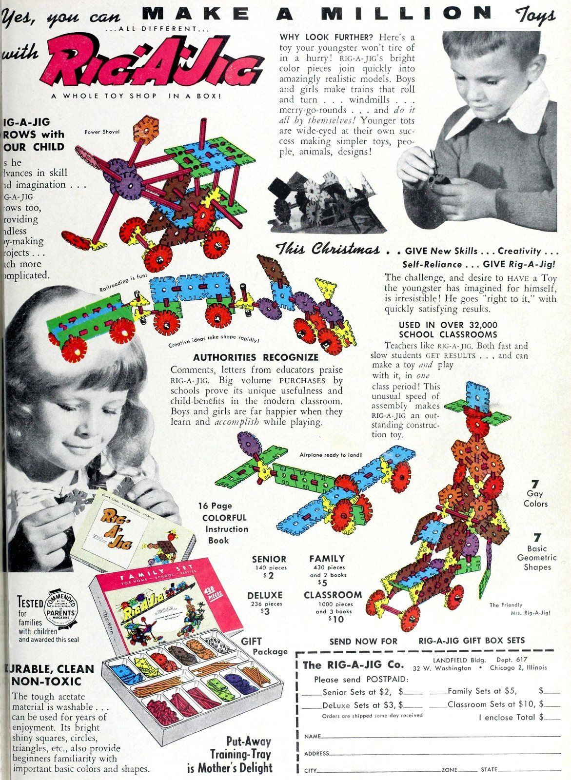 See old Rig-a-Jig construction toys from the 1950s