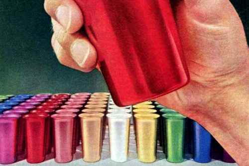 See some iconic retro Colorama aluminum tumblers vintage drinkware from the '50s '60s