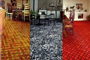 See some vintage kitchen carpeting from back when they thought it was a good idea