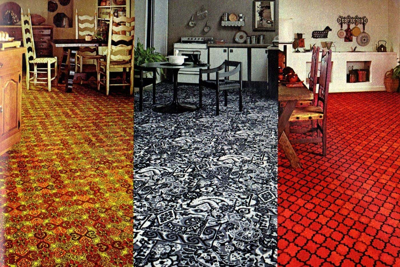 See Vintage Kitchen Carpet From When It Was Popular Home Decor In The 60s 70s Click Americana