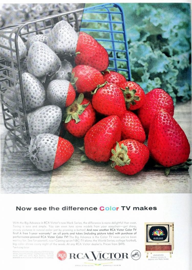 See the difference color TV makes - 1957