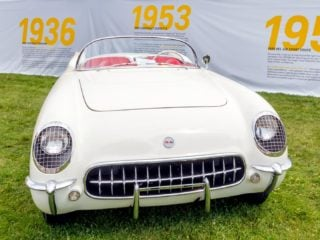 See the first version of the Chevrolet Corvette, which made its debut in 1953