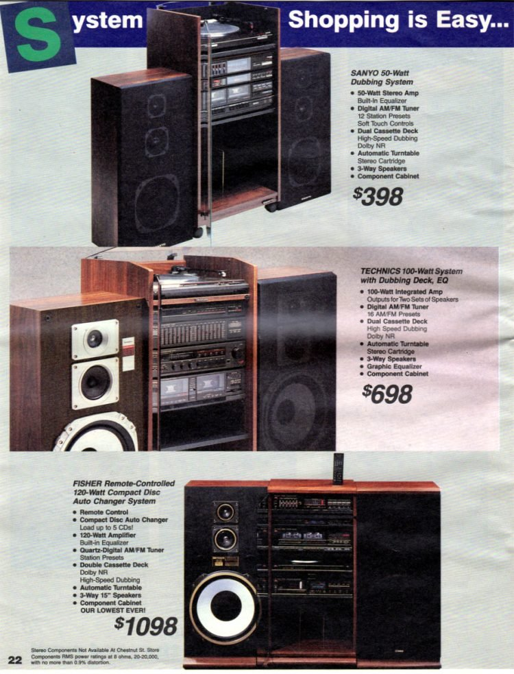 See vintage '80s audio systems - stereo components (2)