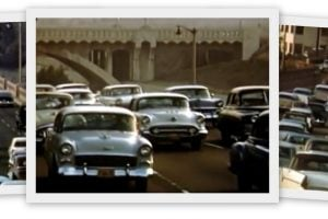 See what California rush hour traffic was like in the 50s