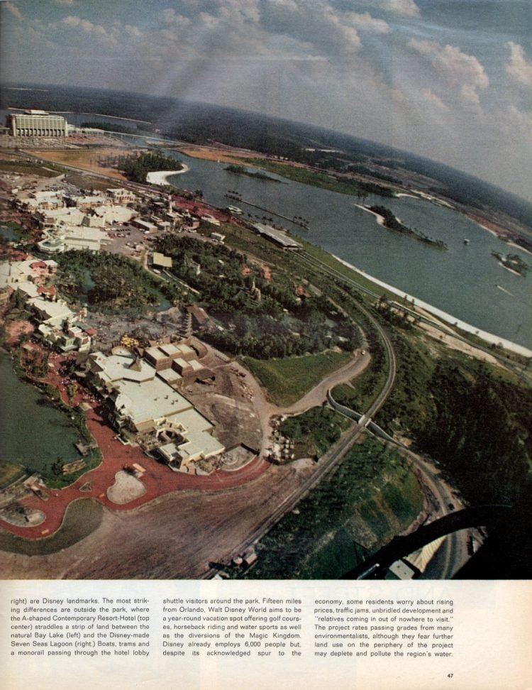 See what Disney World looked like when it first opened in 1971 - Vintage scenes (2)