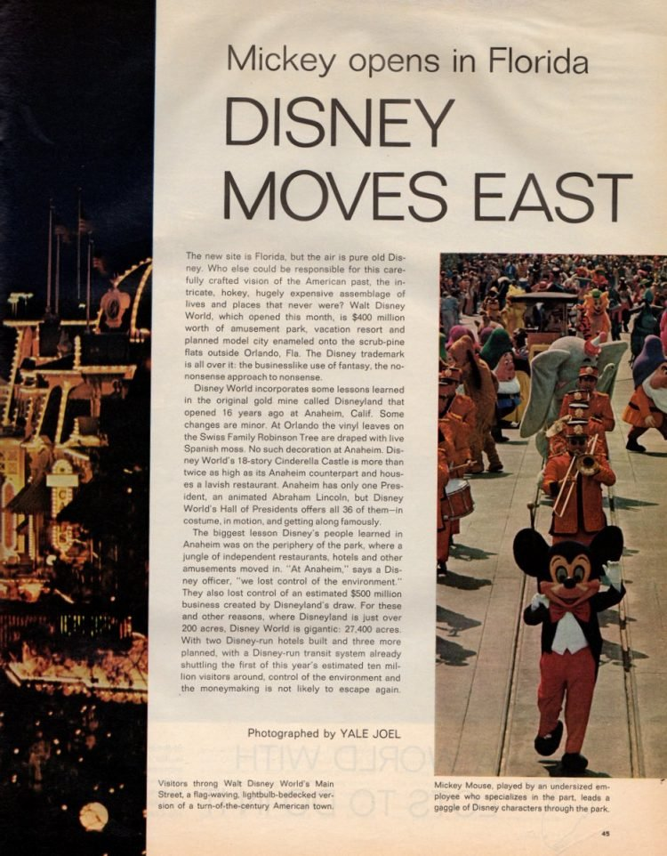 See what Disney World looked like when it first opened in 1971 - Vintage scenes (4)