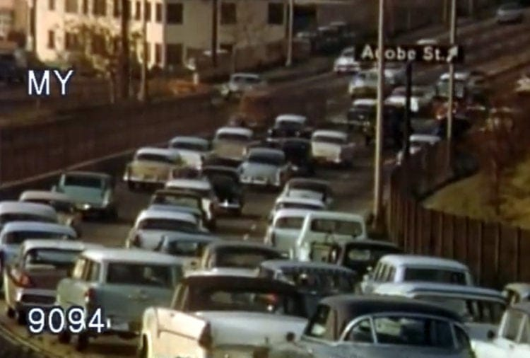 See what Southern California freeway traffic was like in the '50s (1)