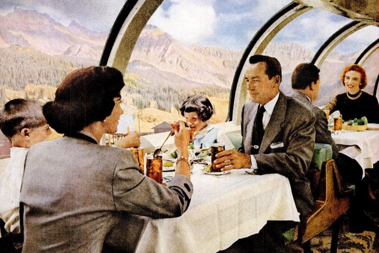 See what train travel in the 1950s was like during railroad's golden age