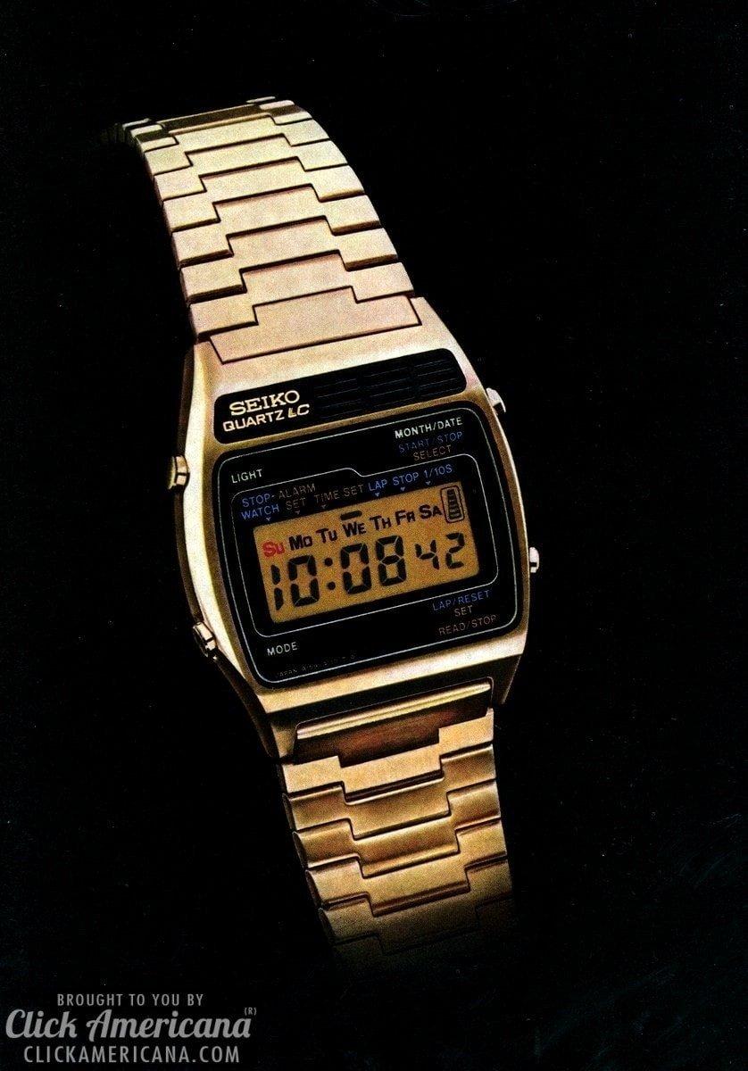 seiko introduces multi mode digital alarm 1977