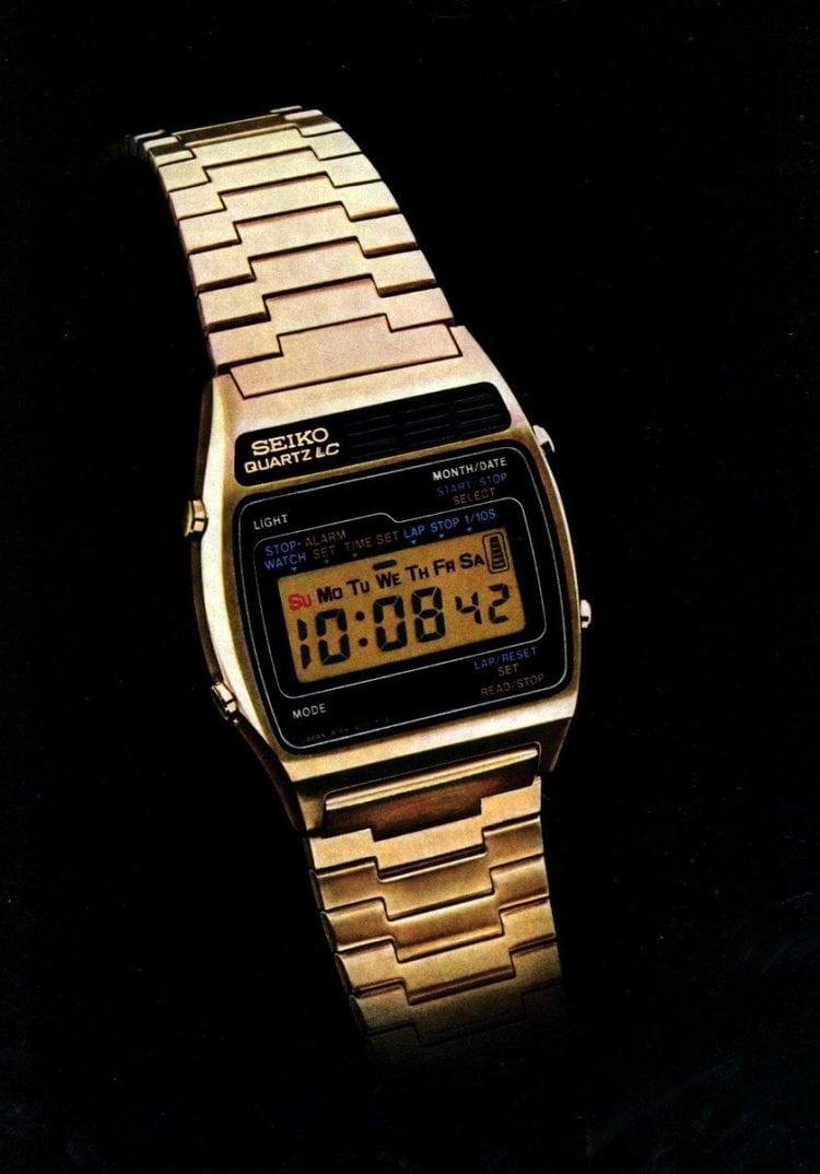 Seiko digital quartz alarm watch-1977 vintage