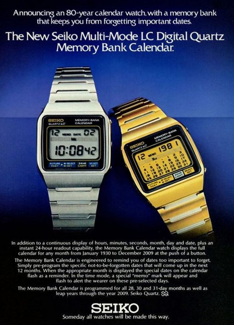 Seiko digital watches of the 80s