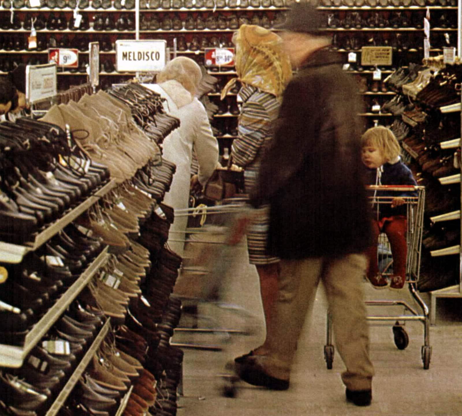 Self-serve Melville shoe store (1968)