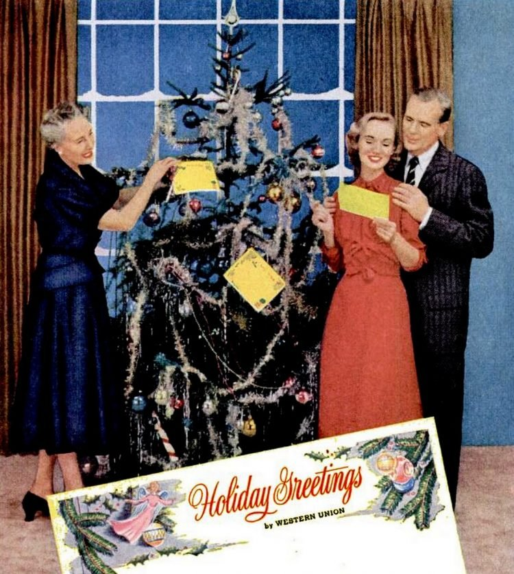 Send a telegram for Christmas - 1955 (2)
