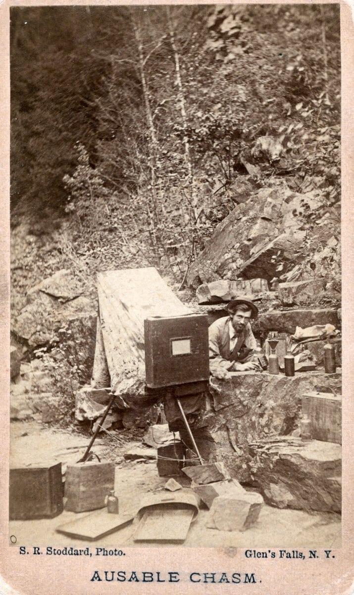 Seneca Ray Stoddard self-portrait - Antique selfie (c1870)