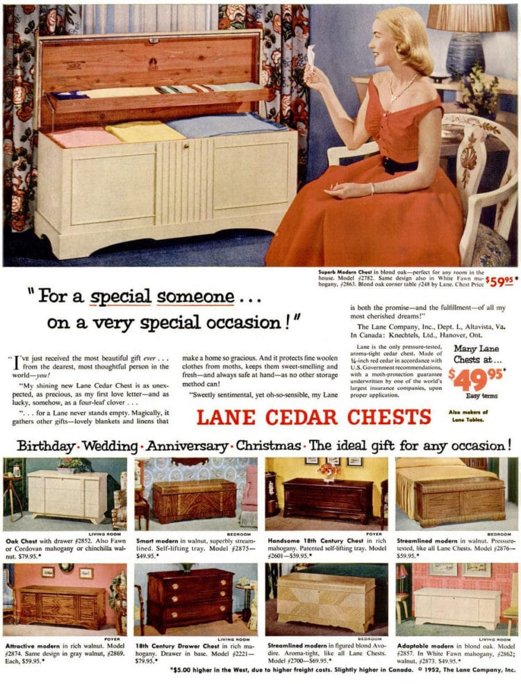 Sep 15, 1952 hope chest
