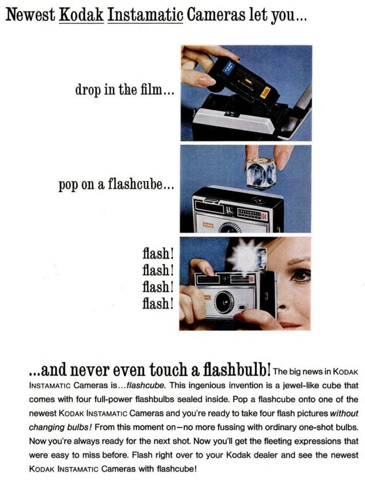 Sep 17, 1965 - Vintage flashcubes and retro cameras - Kodak