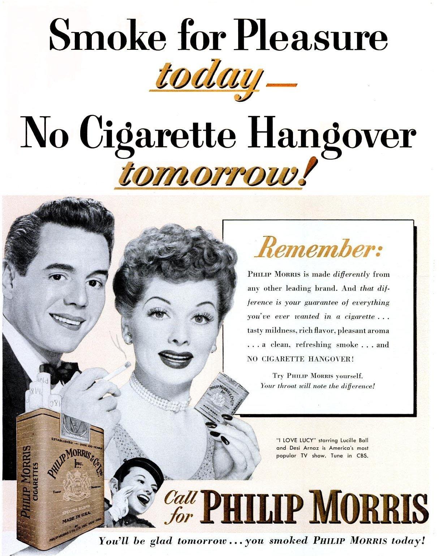 Sep 29, 1952 Desi Arnaz Lucille Ball - cigarettes