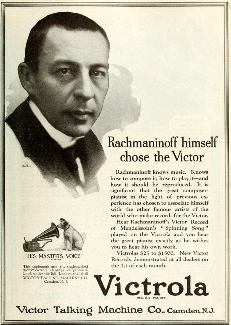 Sergei Rachmaninoff for Victrola
