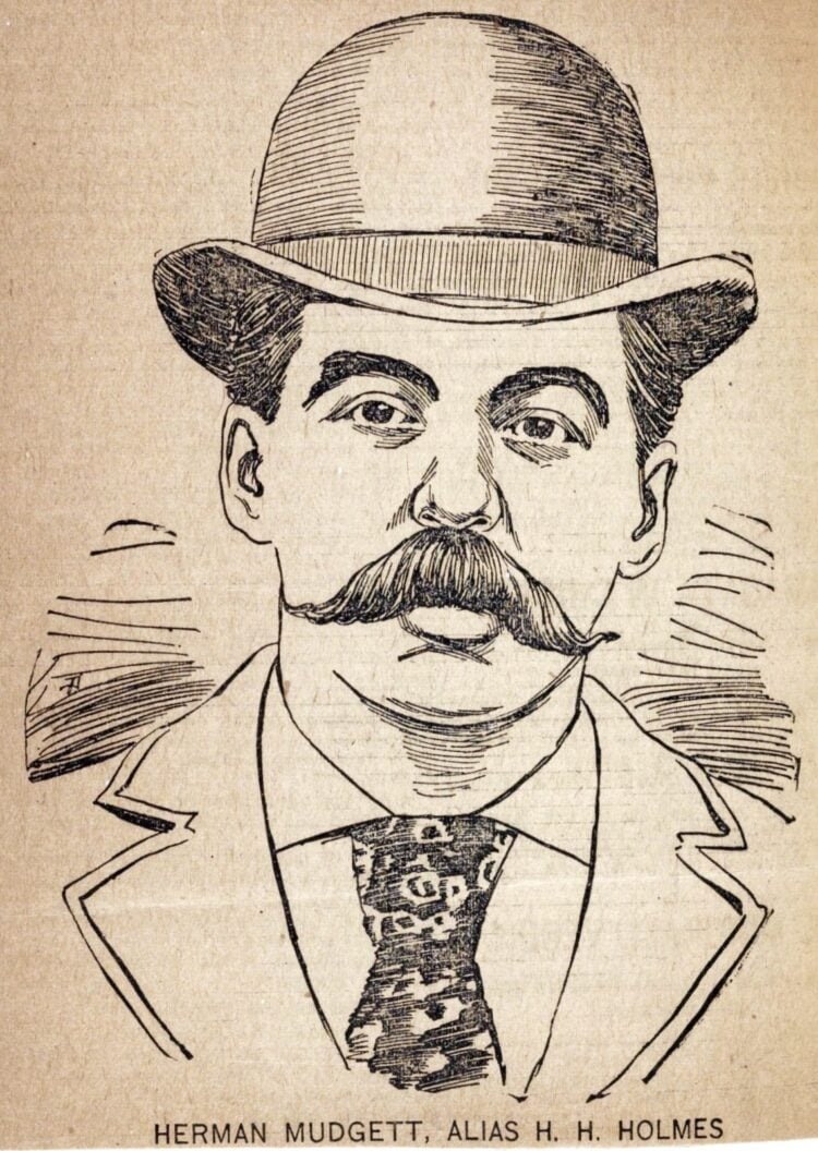 Serial murderer H H Holmes - Portrait illustration