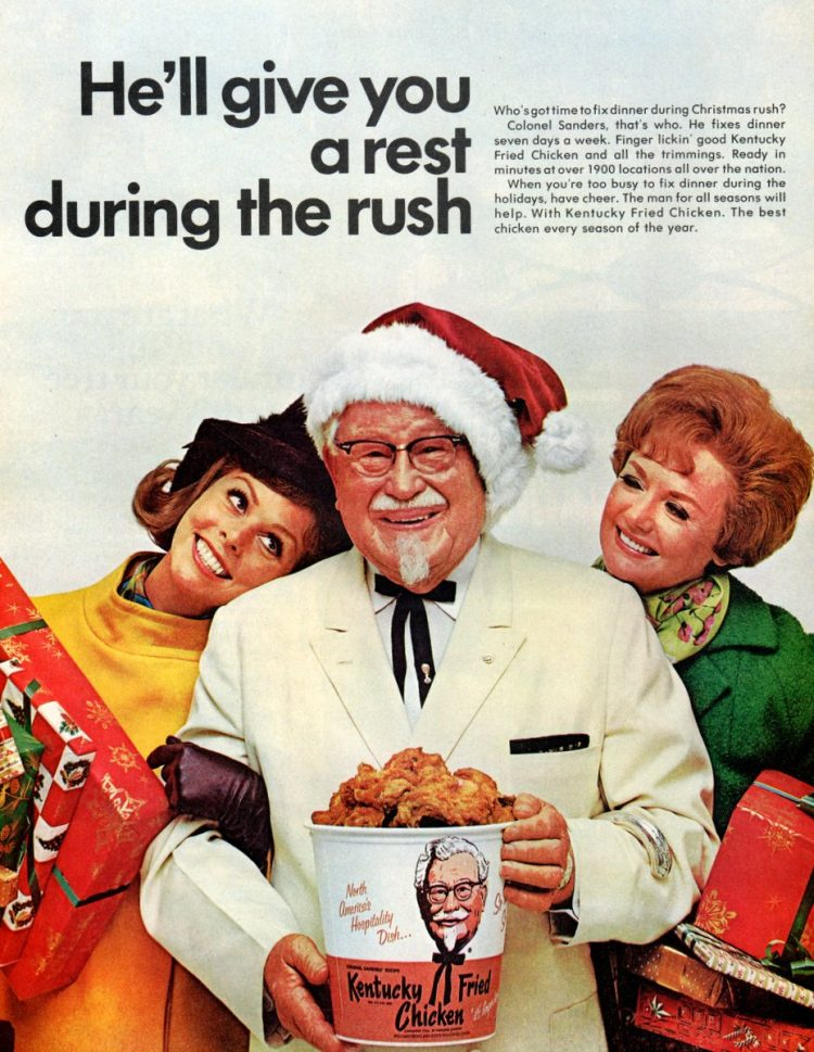 Kentucky Fried Chicken for Christmas - from 1968