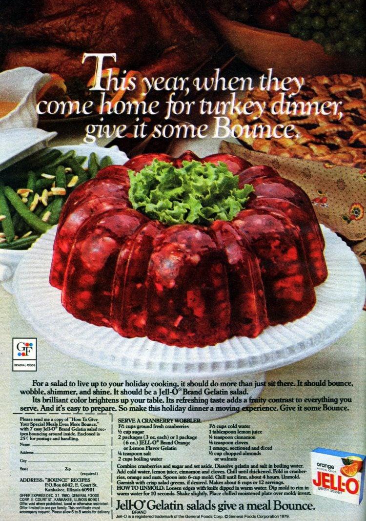 Serve a retro Cranberry Wobbler gelatin mold this Thanksgiving - 1970s