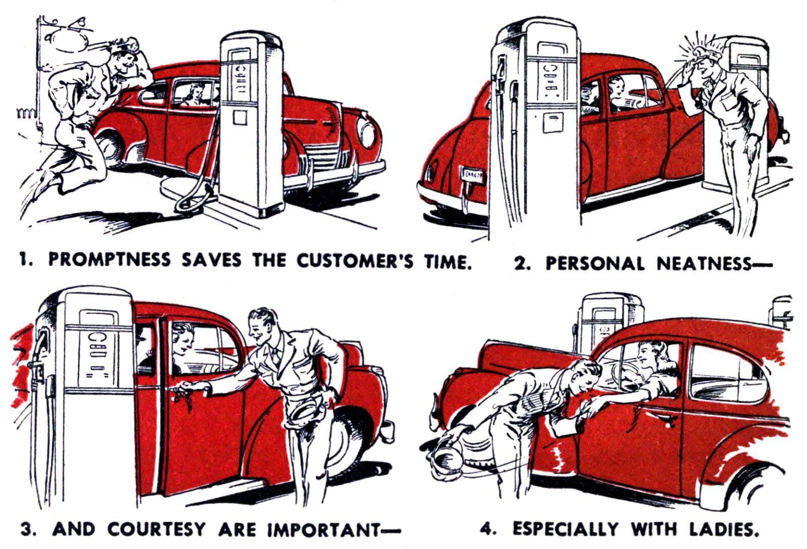 Service station full service - gas station 1944